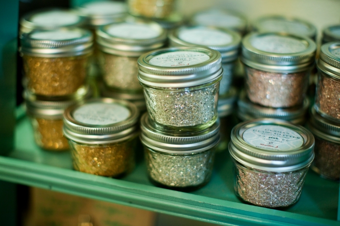 Available in Gold, Silver & Pink. $16 per jar.